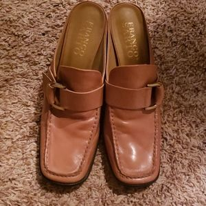 Franco Sarto Brown Mule Size 8.5 Loafer Buc